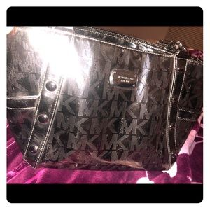 Michael Kors metallic silver purse